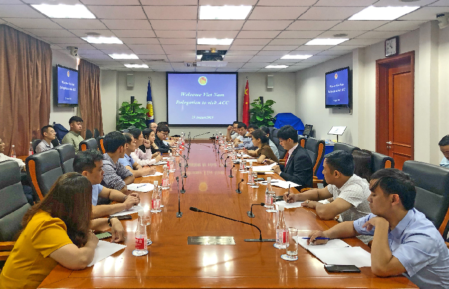 """Members of the 2019 """"Lancang-Mekong China-Viet Nam Strategic Cooperation Training Programme"""" Visited ACC"""