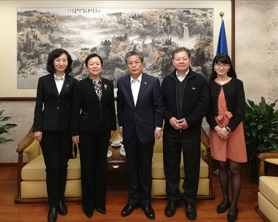 Secretary-General Chen Dehai Met with Vice General Manager Dun Yilan of CNSIG