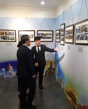 北京外國語大學在讀研究生余雷在中國—東盟中心的實習報告