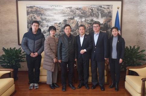 陈德海秘书长会见国家广播电视总局国际合作司副司长闫成胜