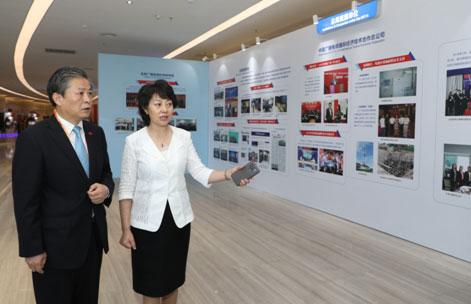 中國—東盟中心秘書長陳德海參觀中國—東盟媒體