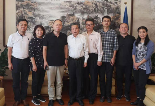 陳德海秘書長會見陜西廣播電視臺副臺長安平