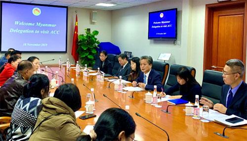缅甸宣传部新媒体代表团访问中国—东盟中心