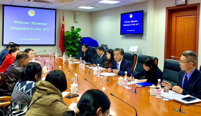 ​A New Media Delegation of Myanmar Ministry of Information Visited ACC