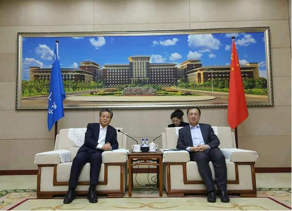 JLU Party Secretary Met with ACC Secretary-General Chen Dehai