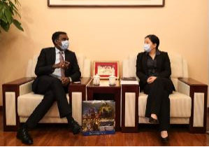 ACC Representative Met with Counsellor of Indian Embassy in China and Permanent Representative to the SCO