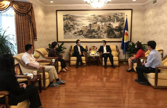 Secretary-General Chen Dehai Met with PKU Executive Vice President Zhan Qimin
