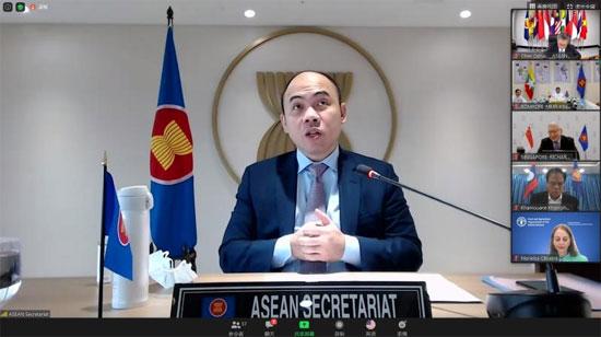 陈德海秘书长参加中国—东盟社会发展与减贫论坛特别视频会议
