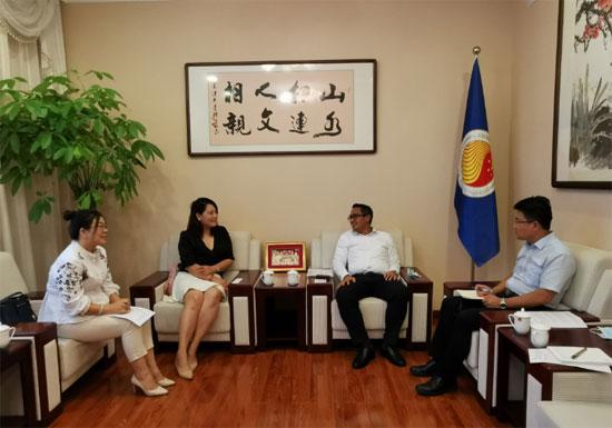 中国—东盟中心与中国日报网进行工作交流