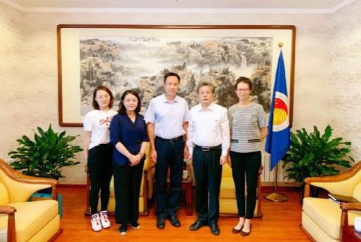 陈德海秘书长会见国家创新与发展战略研究会副理事长冯玮