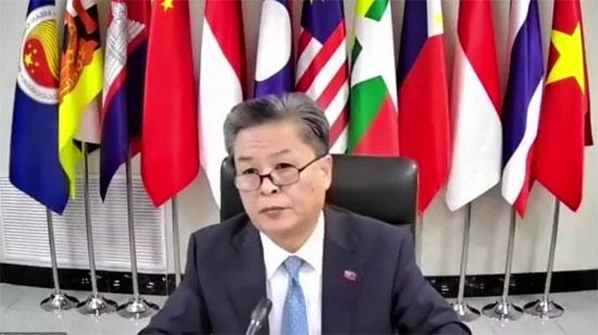 陈德海秘书长出席中国—东盟菁英奖学金2020学年开学仪式