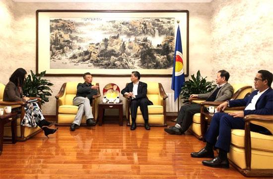 陈德海秘书长与商务部亚洲司司长工作交流