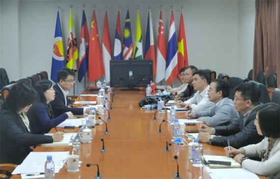 中国—东盟中心同中国石油大学进行工作交流