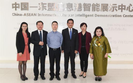 中心代表参访中国—东盟信息港股份有限公司
