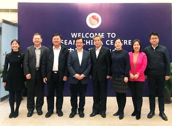 陈德海秘书长会见海南省外办主任王胜
