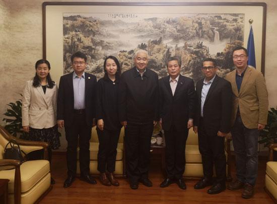 陈德海秘书长会见国务院新闻办公室对外推广局副局长李智慧