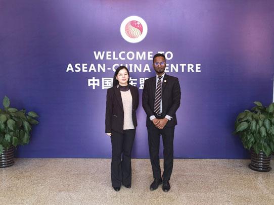 综合协调部主任汪红柳会见马来西亚驻华使馆副馆长尚穆根