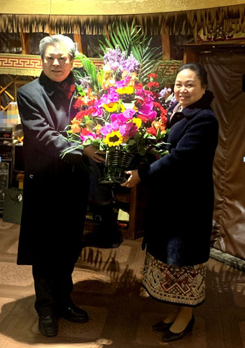 ACC Secretary-General Chen Dehai Met with Ambassador of Lao PDR