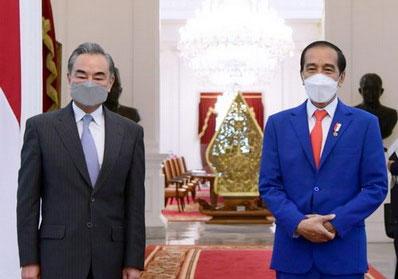 印尼总统佐科会见王毅