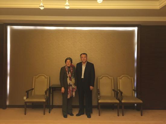 杨秀萍秘书长与东营市副市长李俊峰会面