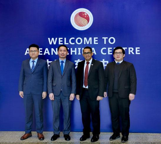 中国—东盟中心与老挝驻华使馆进行工作交流