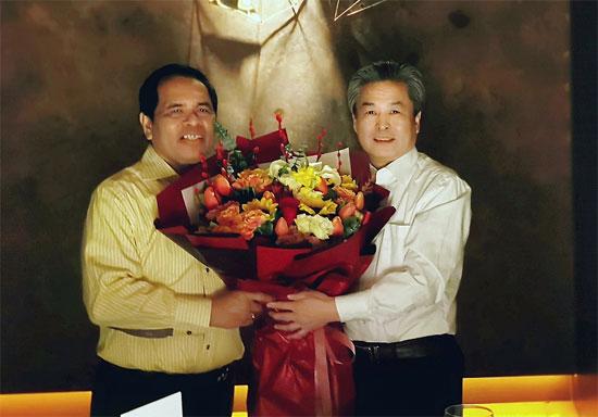 陈德海秘书长会见印尼驻华大使周浩黎