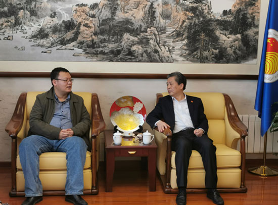 ACC Secretary-General Chen Dehai Met with Executive Editor-in-Chief of Global Times Online