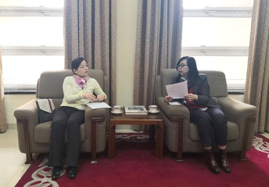 综合协调部主任汪红柳会见文莱驻华使馆副馆长洪丽玲