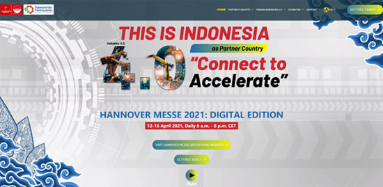 """ACC Visited upon Invitationthe Online Exhibition """"This is Indonesia"""" of Hannover Messe 2021"""