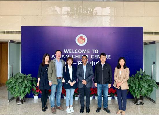 中国—东盟中心与中国外文局进行工作交流