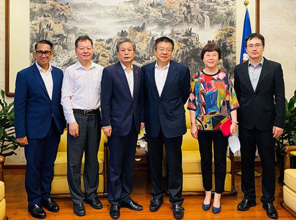 陈德海秘书长会见贵州省人民政府外事办公室主任张汉林一行