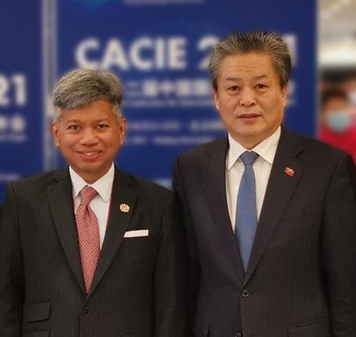 陈德海秘书长会见马来西亚驻华大使