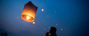 瀾滄江畔齊放孔明燈 喜迎傣歷新年