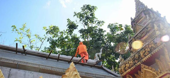 Reconstruction process undergoing in Vientiane's Pha That Luang