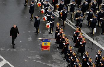 National Day military parade held in Bucharest, Romania
